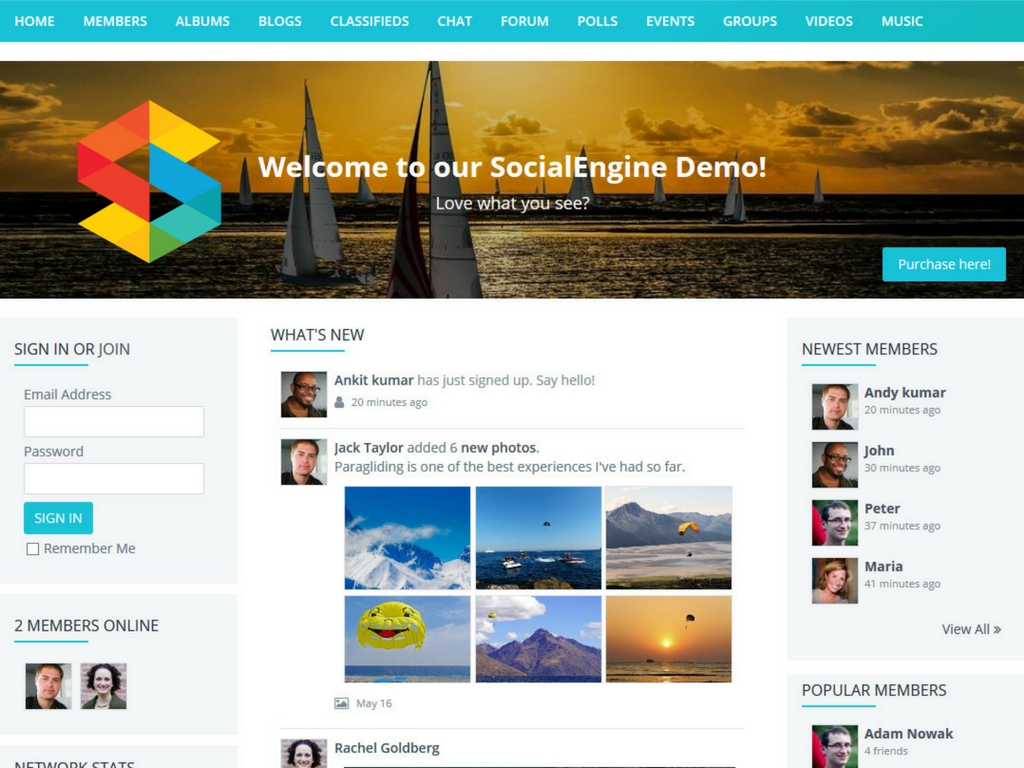 Tips For Getting Started With A New Website With SocialEngine